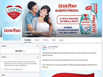 Licor del Polo en Facebook